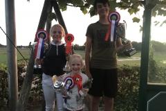 OLW kampioenen 2018 BIXIE : Fenne Hermans met Basje!  Pony's : Sophie van Rooij met Willow Tree Garwyn!  Paarden: Coen Philipsen met Zamdoria!