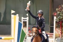 Limburgs kampioen indoor 2019: Katelijne Philipsen met Lana in de klasse AB-L springen